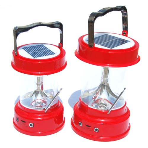 Solar Lantern with FM Radio & Charger - Small Size and Normal Size