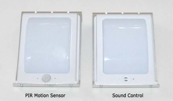 sound control solar sensor wall light